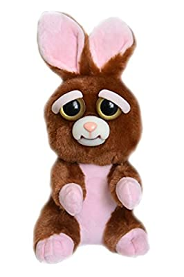 William Mark Feisty Pets Vicky Vicious Plush Adorable Plush Stuffed Bunny that Turns Feisty with a Squeeze from William Mark