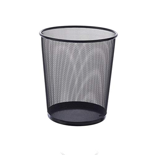 Moozhitech Household Utility Trash can Trash Can Home Office Trash Kitchen Living Room Bathroom Trash can Barbed Wire Thickening Without Cover Paper Basket Storage Barrel (Size : Small)