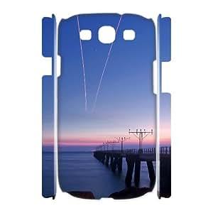 3D Evekiss Bridge Samsung Galaxy S3 Cases Bridge City 2 for Teen Girls, Samsung Galaxy S3 Case for Woman for Teen Girls [White]