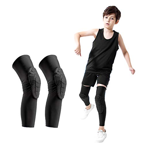 - Luwint Children Volleyball Knee Pads - Boys & Girls Compression Armour Protective Knee Brace Support for Running Football Basketball Baseball Bowling Tennis Hockey Sports, 1 Pair (X-Large)