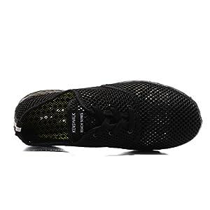 Kenswalk Men's Aqua Water Shoes Lightweight Quick Drying Beach Shoes(US 13,All Black Men 2017)