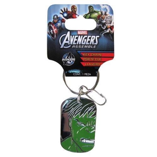 Amazon.com: Avengers Assemble Marvel The Hulk Face Dog Tag ...