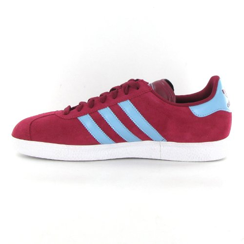 blue adidas gazelle trainers