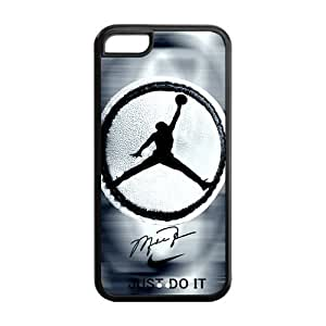 HD pic Picture Creative Simple NBA Chicago Bulls Michael Jordan Apple Iphone 5C Case Cover TPU NIKE JUST DO IT