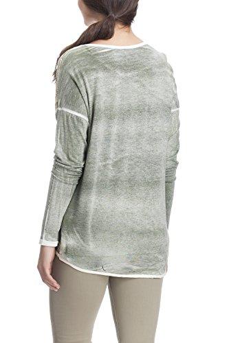 Laura Moretti - Camiseta asimétrica de manga larga con lentejuelas Verde