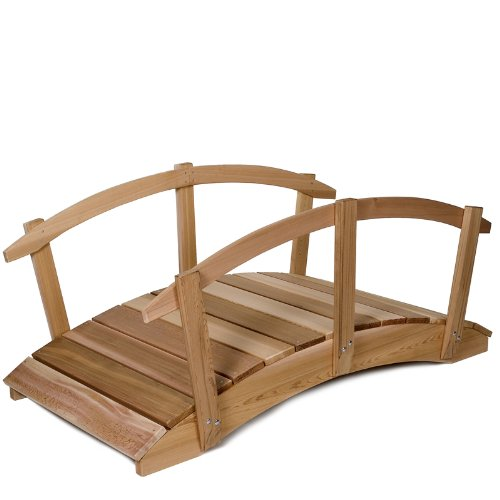 Western Red Cedar 6' Garden Foot Bridge with Hand Rails - Patio and Garden Furniture by All Things Cedar