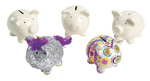 Colorations Decorate A Piggy Bank - Set of 12 (Item # PIGGY) (Bank Set Piggy)