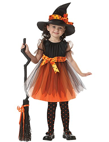 Dead Ballerina Halloween Costume (Maybest Kids Halloween Costume Lovely Girls Fancy Dress Magic Hat Witch Cosplay School Performance Birthday Party Witch L(115-125CM))
