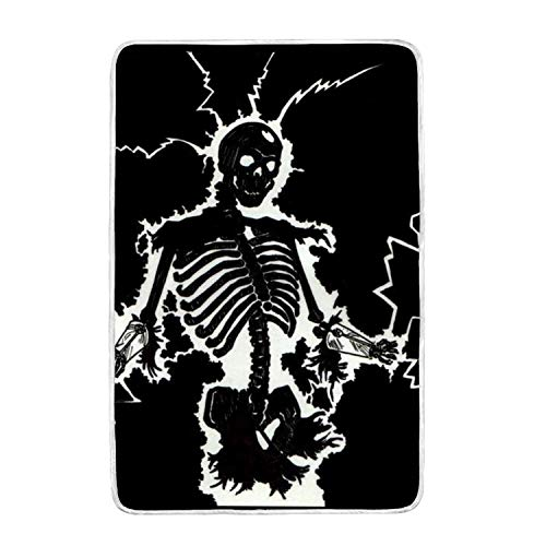 suhongliang Electric Skeleton Print Throw Blanket Comfort De