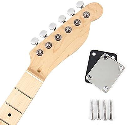 Kmsie - Cuello de guitarra eléctrica con placa de cuello para tl ...