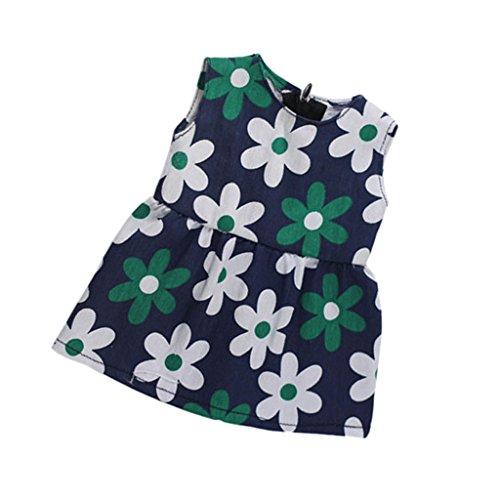 Frock Skirt (MagiDeal Sleeveless Flowers Printed Frock Skirt Dress for 18 inch American Girl Dolls)