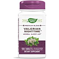 Nature's Way Valerian Nighttime Herbal Sleep Aid, 320 mg per serving of Valerian Extract, 100 Tablets (Packaging May Vary)