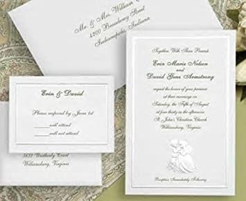 Amazon Com Precious Moments Formal Wedding Invitation Kit White 50