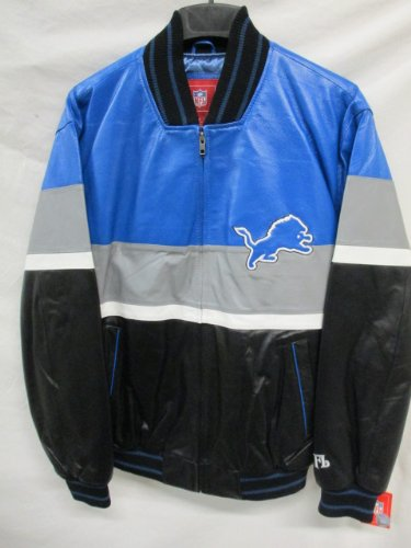 Detroit lions leather jacket