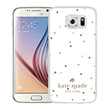 Luxurious And Nice Custom Designed Kate Spade Cover Case For Samsung Galaxy S6 White Phone Case 208