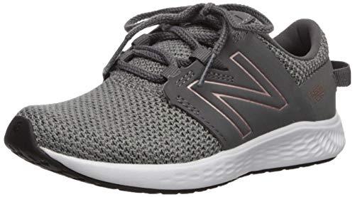 New Balance Girls' Vero Racer V1 Running Shoe, Castlerock/Phantom, 1 M US Little Kid