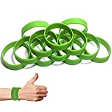 Johouse Green Silicone Wristband, Rubber