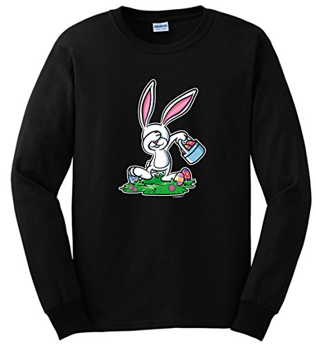 [Easter Bunny Costume Easter Christian Easter Chocolate Bunny Dabbing Easter Bunny Funny Easter Gifts Long Sleeve T-Shirt 3XL] (Plus Size Easter Bunny Costumes)