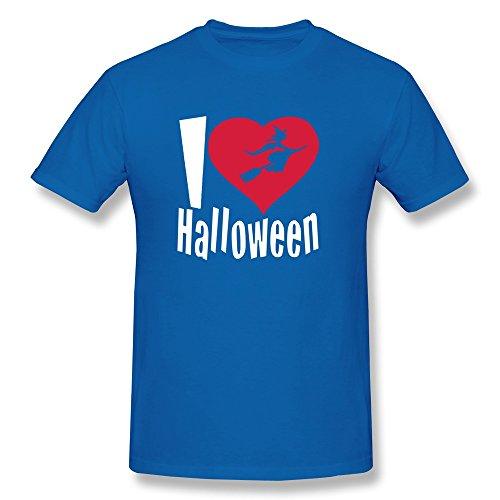 (Happy Halloween 100% Cotton Man's T-Shirt RoyalBlue Size XXL Cute By)