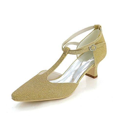 YC L Robes Satin De gold Strass Et SoiréE Chaussures Femmes Et Printemps De Pour Et Mariage De Mariage D'éTé wggd0qrS