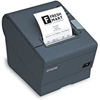 Epson C31C636A7371 TM-T88IV ReStick Liner-Free Label Printer 80mm On Board USB Interface with PS180 - Color Dark Gray