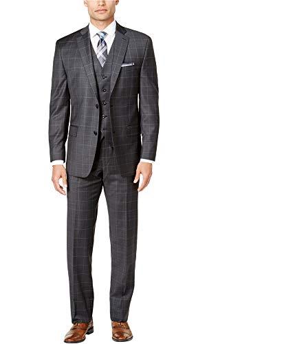 - Michael Kors Mens Classic-Fit 3 Pieces Two Button Suit, Grey, 42 Regular / 35W x UnfinishedL