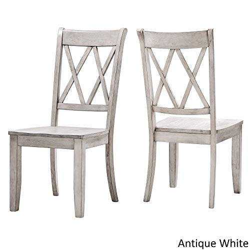 Inspire Q Eleanor Double X Back Wood Dining Chair (Set of 2) by Classic Antique White