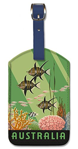 Pacifica Island Art Leatherette Luggage Baggage Tag - Australia Great Barrier by Lambert