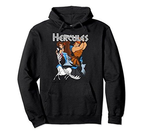 Unisex Disney Hercules Group Shot Graphic Hoodie 2XL Black
