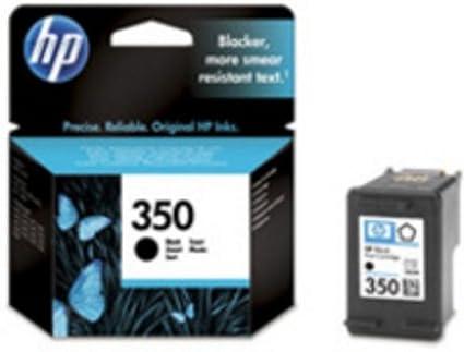 HP 350 cartucho de tinta Negro - Cartucho de tinta para impresoras (Original, Tinta a base de pigmentos, Negro, 1 pieza(s), HP Photosmart C4400, ...