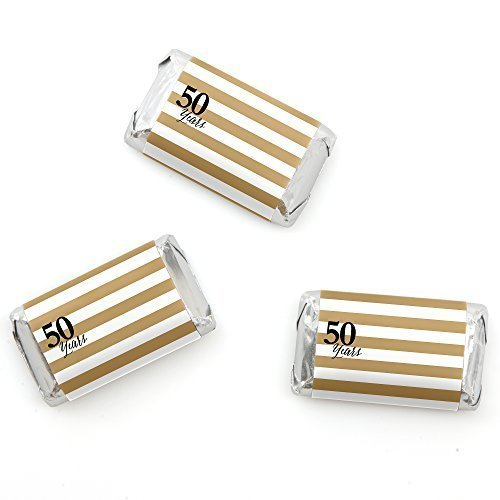We Still Do - 50th Wedding Anniversary - Mini Candy Bar Wrappers Party Favors - 20 (50th Anniversary Candy Wrappers)
