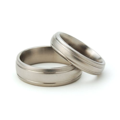 Amazon.com: Titanium Rings For Him And Her, Matching Wedding Rings,  Titanium Bands: The Jewelry Source: Jewelry