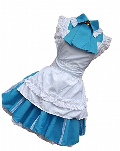 POJ Japanese Anime Love Live Style Maid Costume [ M / L Blue for Women ] (Lara Croft Halloween Costume 2016)