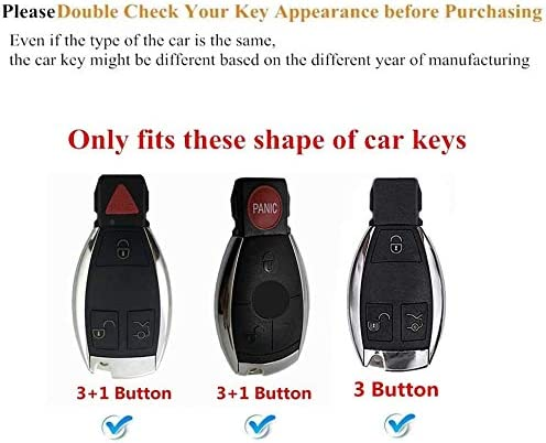 TG Auto Key Fob Cover Premium Soft TPU Key Case Cover With Key Chain For Mercedes Benz C E S M CLS CLK G Class Keyless Smart Key Fob Pink