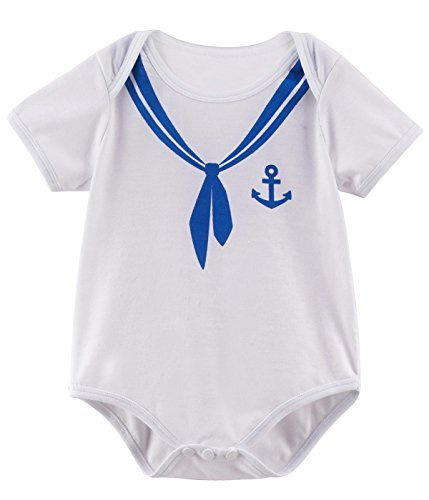 Mombebe Baby Boys' Halloween Costume Sailor Bodysuit