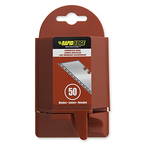 Rapid Edge All-Purpose Rapid Edge Serrated Utility Knife Blades (50 blades), 1-Pack