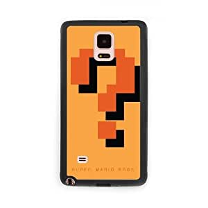 Game boy Super Mario Bros G8C4FQ0P Caso funda Samsung Galaxy Note 4 Caso funda del teléfono celular Negro