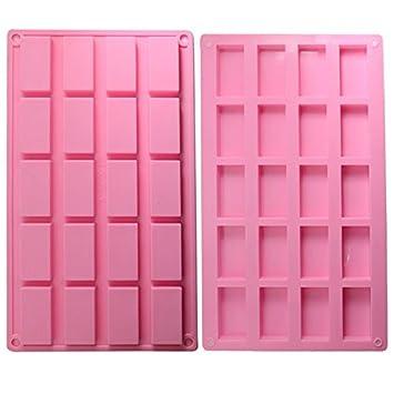 Molde de silicona con forma de tableta de chocolate, color rosa (A): Amazon.es: Hogar