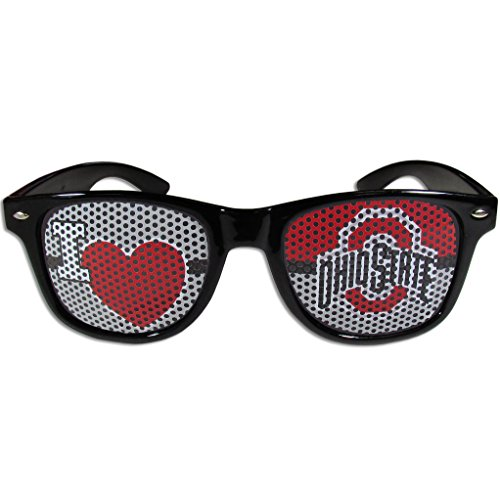 NCAA Ohio State Buckeyes I Heart Game Day Shades, Black,Adult,Black