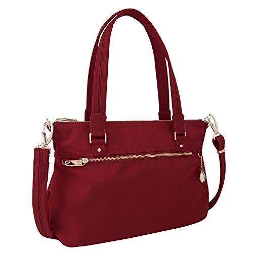 (Travelon Women's Anti-Theft Tailored Satchel Travel Purse Garnet One Size)