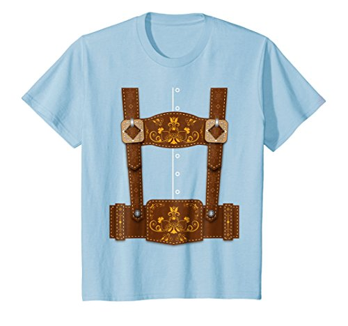 Kids Oktoberfest Funny Lederhosen Bavarian T-Shirt 6 Baby ()