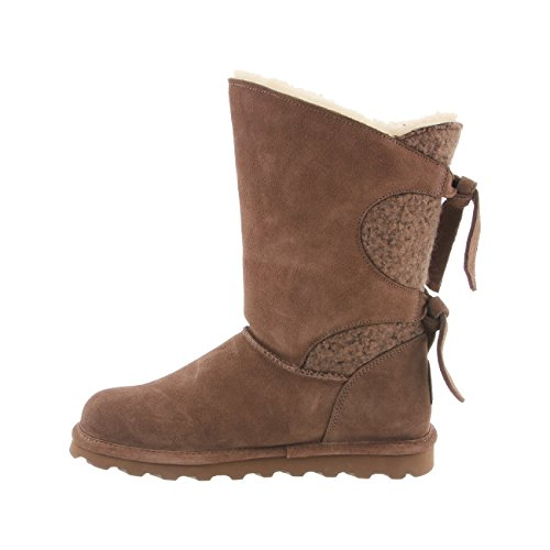 Taupe Willow BEARPAW Rubber Wool Women's Suede Boots Yr5qYvw