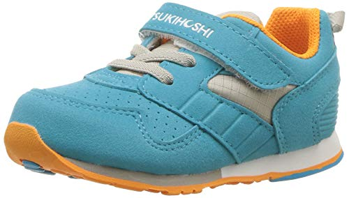 TSUKIHOSHI Baby Racer Sneaker, Turquoise/Orange, 5.5 M US Toddler M US Toddler ()