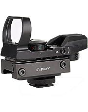Svbony Red Dot Sight Scope 20 / 22mm Rail Mount Met Camera Adapter Holografische Sight Metal Reflex Sight 4 Dradenkruisen en 5 Helderheid Red Dot Scope