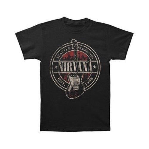 Nirvana - Established 1988 Guitar Stand T-Shirt Size L