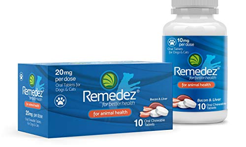Remedez 20 mg Oral Chewable Pain & Anxiety Control for Cats & Dogs - 10 Tablets