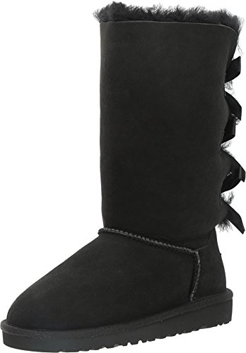 UGG Australia Kids Bailey Bow Tall Boot Black Size 4 M US Big (Ugg Boots Charms)