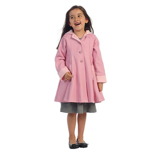 f91ff6164 Amazon.com  Angels Garment Pink Wool Hooded Swing Coat Toddler ...