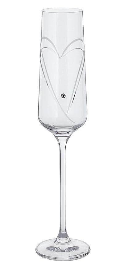 Amazon Com Dartington Pair Romance Heart Toasting Champagne