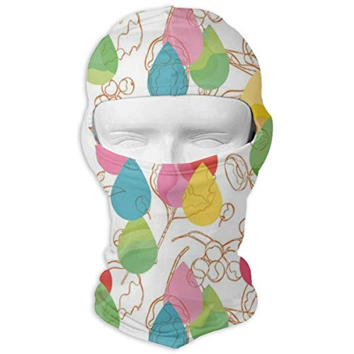 Xuforget Cherry Branches Leaves Curved Lines Autumn Man & Women's Balaclavas Full Face Mask Hood